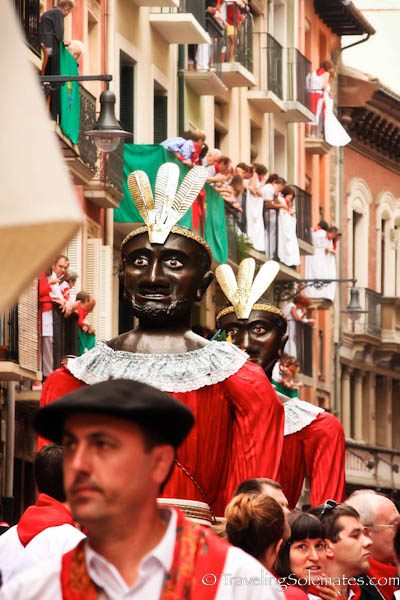 The Giants at the Procession, Fiesta de San Fermin, Pamplona, Spain
