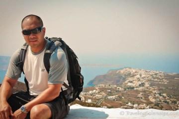 Hiking in Santorini, Greece