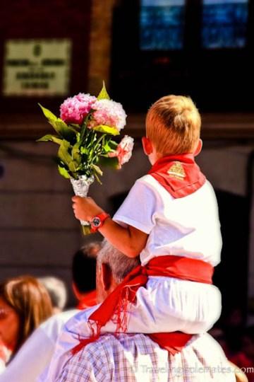 Children's Offering to San Fermin, Fiesta de San Fermin, Pamplona, Spain