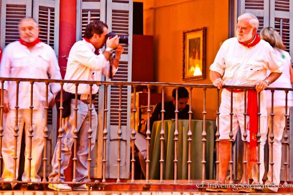 Hemingway look-alike contest, Fiesta de San Fermin, Pamplona, Spain