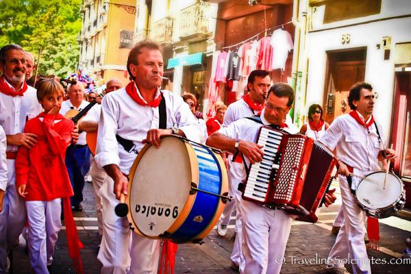 Music Bands, Fiesta de San Fermin, Pamplona, Spain