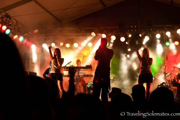 Concert at Fiesta de San Fermin, Pamplona, Spain