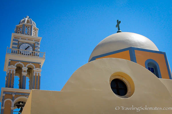 A domed church in Fira, Santorini