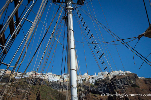 Sailing from Fira, Santorini, Grece