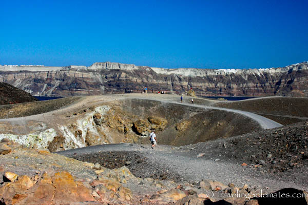 Crater of Nea Kameni, Santorini, Greece
