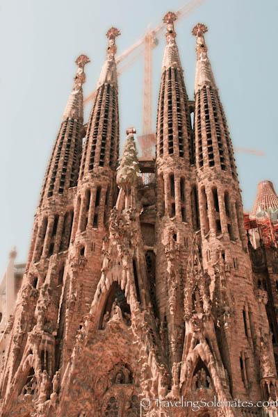 Gaudi's La Sagrada de Familia, Barcelona, Spain