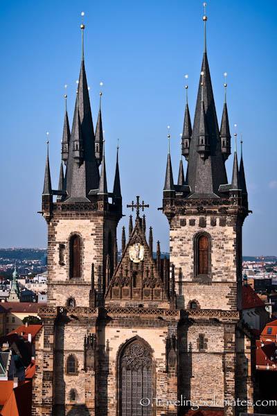 Gothic Spires of Tynn Church, Prage, Czech Republic