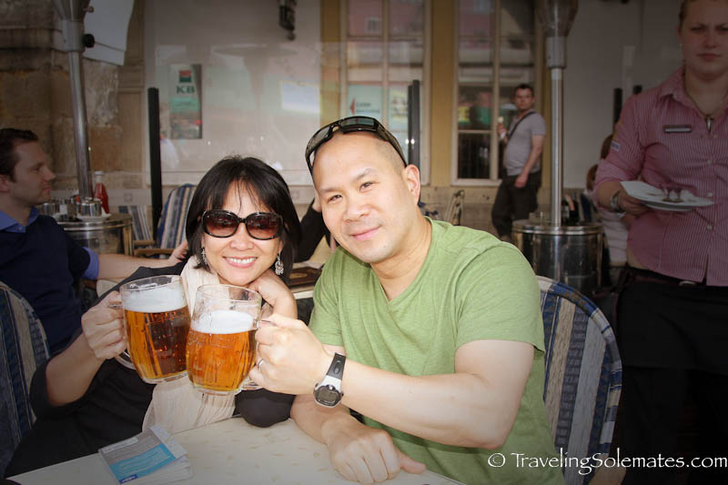 Beer at  Old Town Square, Stare Meto (Old Town) , Prague, Czech Republic