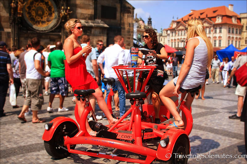 Fun ride at  Old Town Square, Stare Meto (Old Town) , Prague, Czech Republic