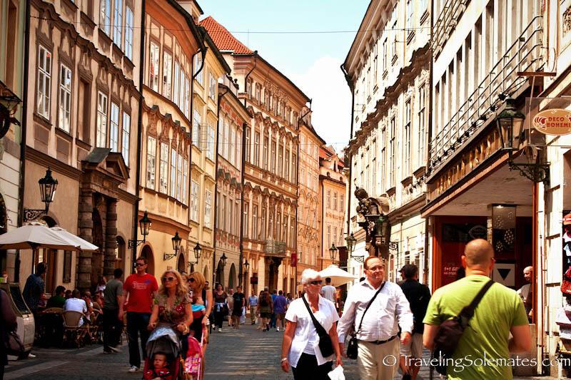 Walking around Stare Meto (Old Town) , Prague, Czech Republic.