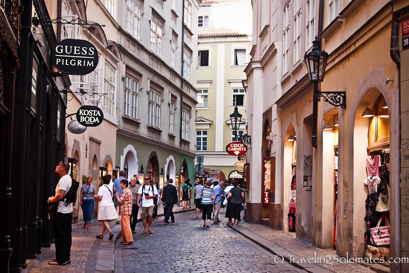 Shopping street, Stare Mesto (Old Town) Prague's Czech Republic