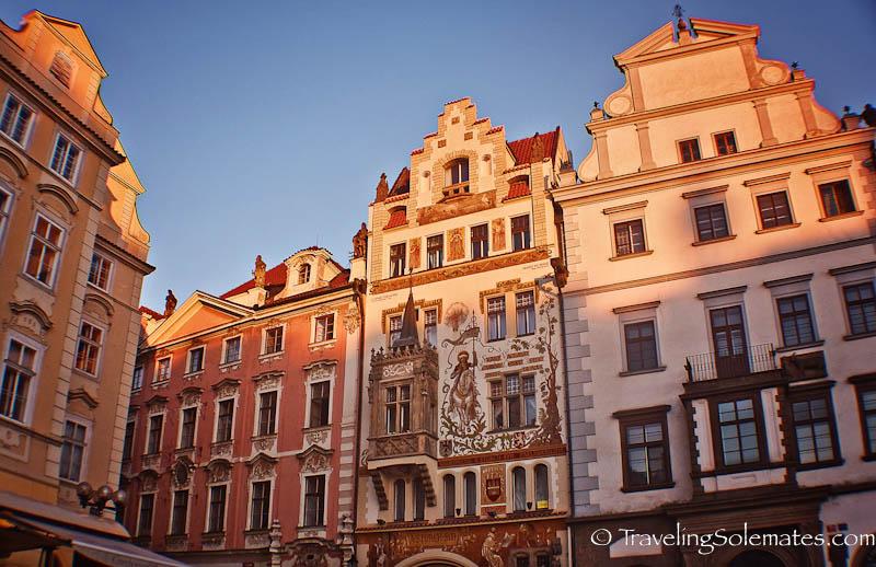 Old Town Square Buildings, Prague, Czech Republic