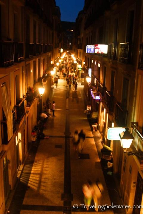 Street in the Old Quarter, San Sebastian, Spain