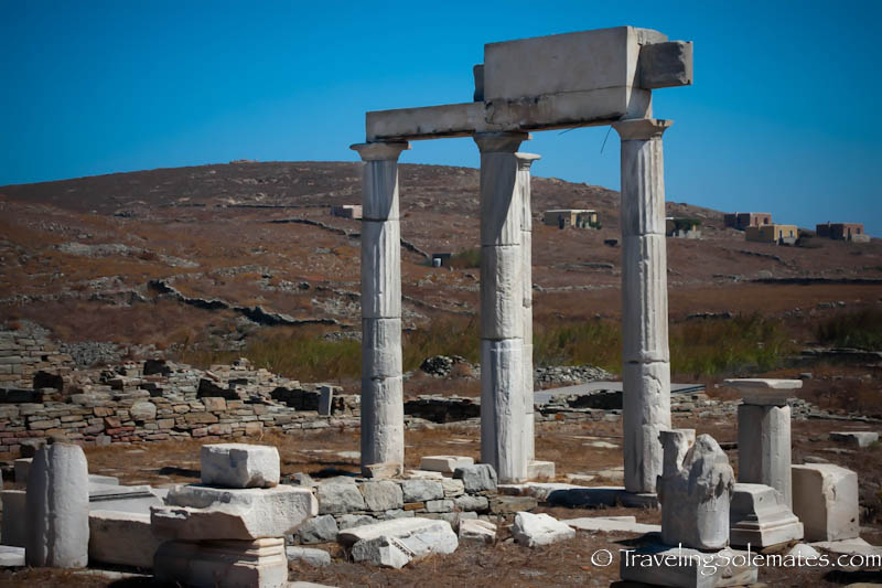 Ruins of Establishment of Poseidoniasts, Delos, Greece