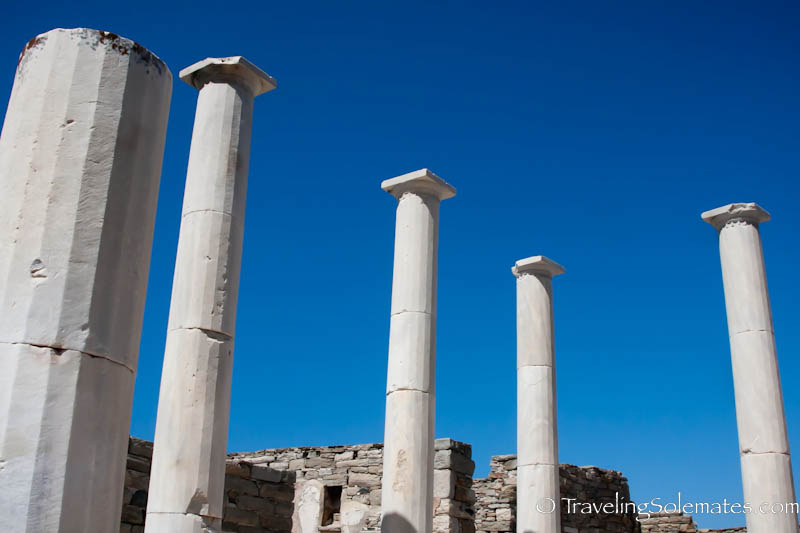 Doric Columns in House of Dionysos, Delos, Greece