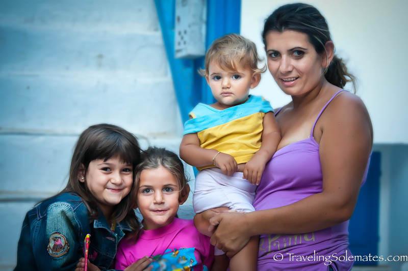 Beautiful residents of of Mykonos, Greece