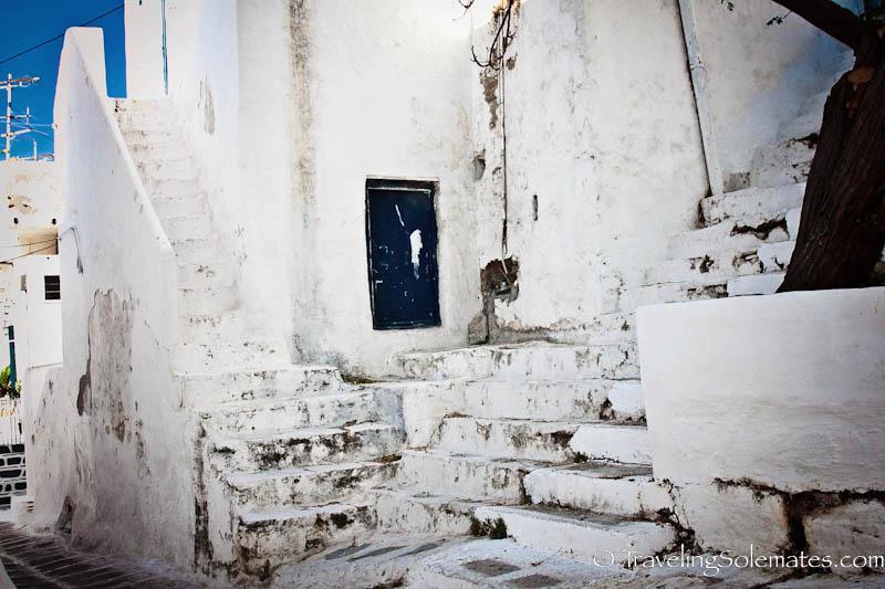Steps in Alleys of Mykonos, Greece