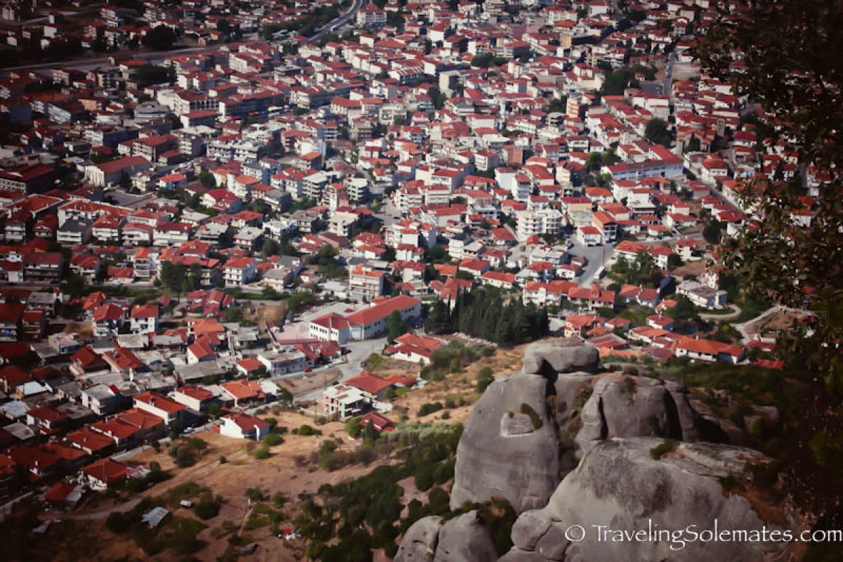 View from Monastery of Agiou Stefanou, Meteora, Greece