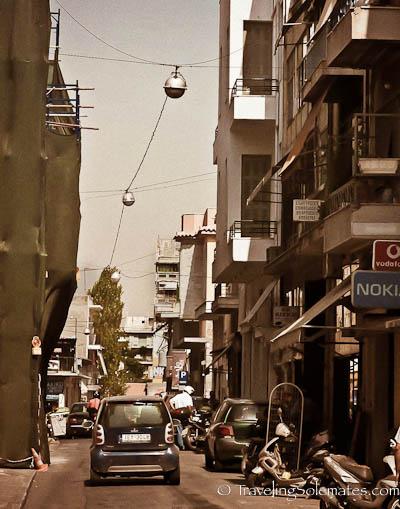 Street in Psiri, Athens, Greece