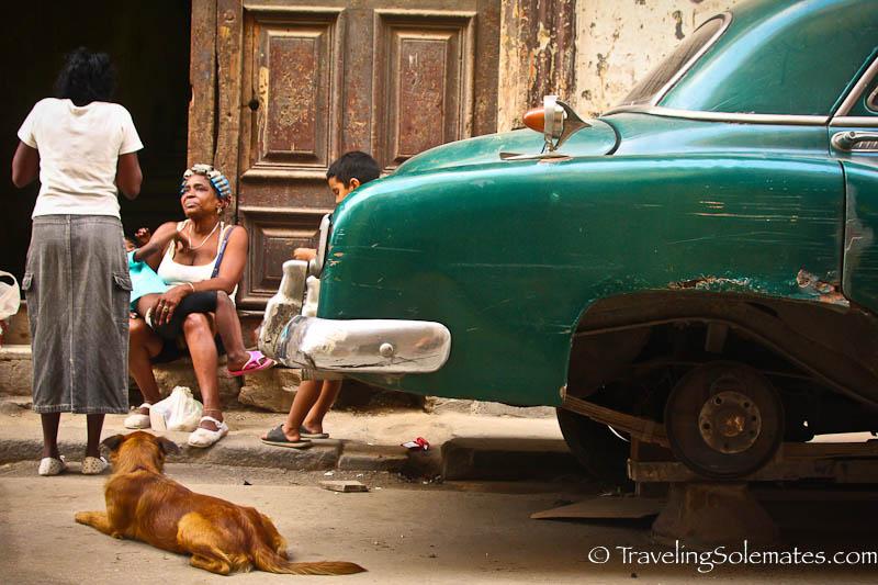 Cars and People, Havana, Cuba