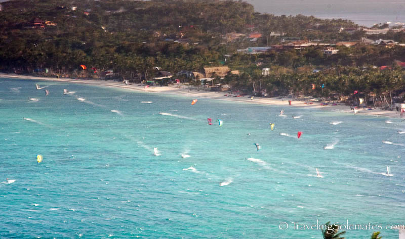 Kite surfing in Bolabog Beach, Boracay, Philippines