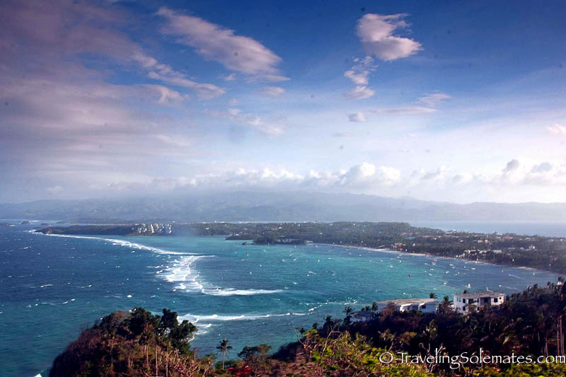 View of Bolabog Beach from Mt. Luho, Boracay, Philippines