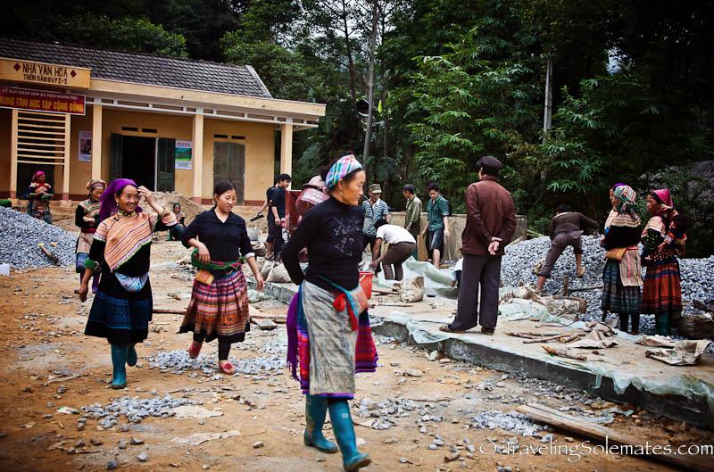 06-Road Construction - Trekking in the Hillribe Villages around Bac Ha, Vietnam