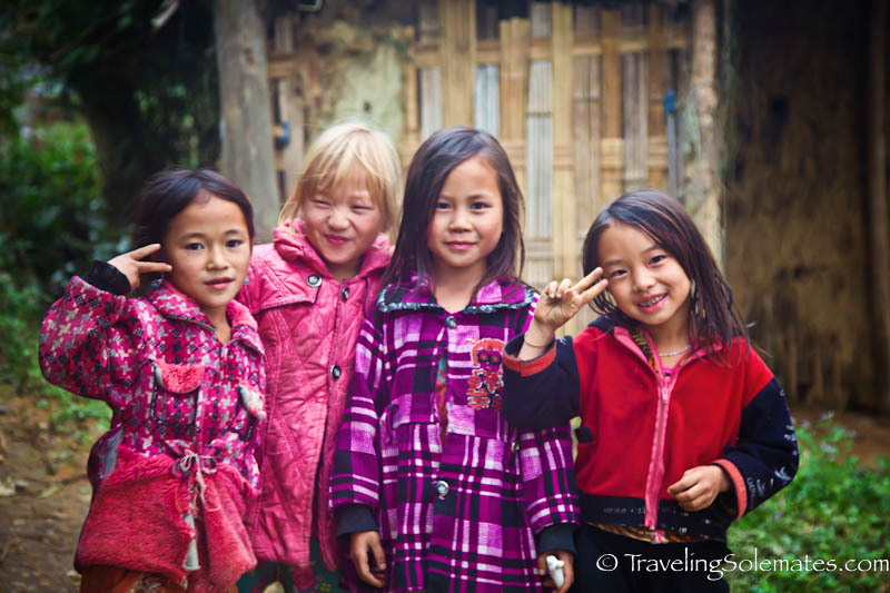 Nung Girls - Trekking in the Hillribe Villages around Bac Ha, Vietnam