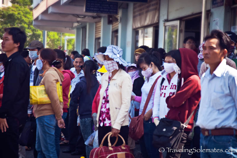 People Waiting for Bus, Ho Chi Minh, (Saigon), Vietnam