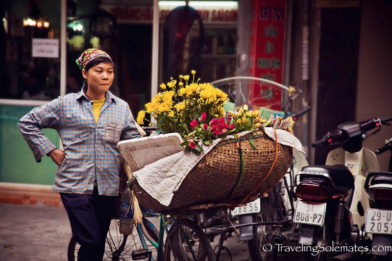 Flower Vendor, Old Quarter, Hanoi, Vietnam