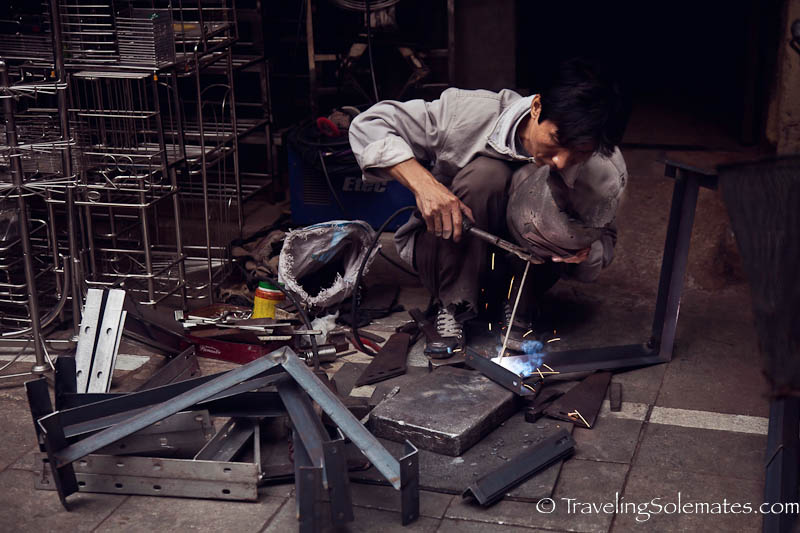 Lo Ren, the Blacksmith Street, Old Quarter, Hanoi, Vietnam