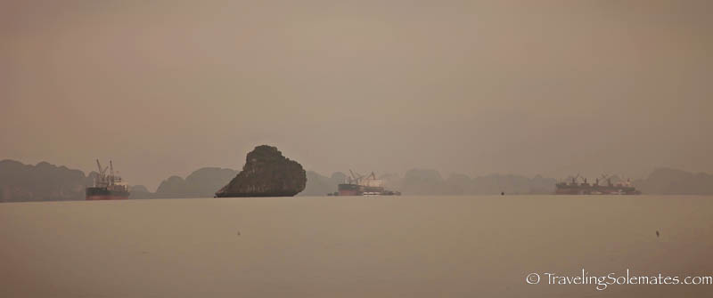 Industrial ship in Halong Bay, Vietnam