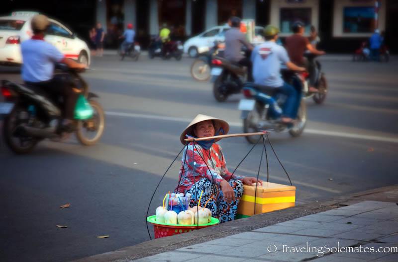 Lady Coconut Vendor, Ho Chi Minh, (Saigon), Vietnam