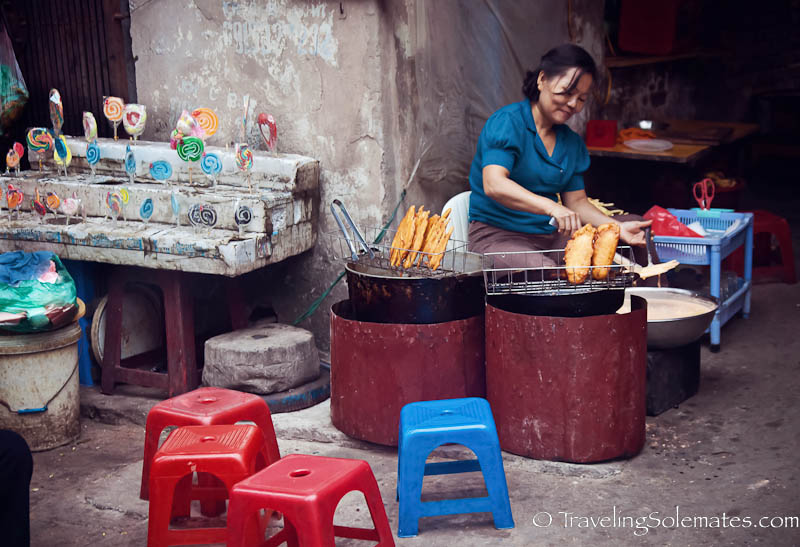 Street food in Old Quarter, Hanoi, Vietnam