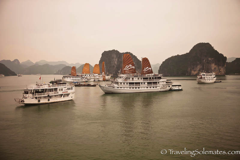 Boats on Halong Bay, Vietnam