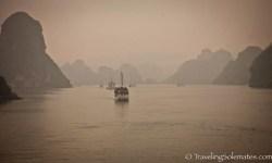 Boats and Karst on Halong Bay, Vietnam