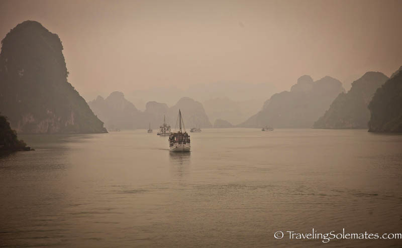 Boats and Karst on Halong Bay, Vietnam