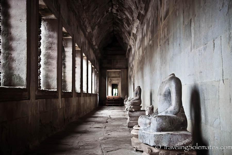 Buddha statues in Angkor Wat , Cambodia