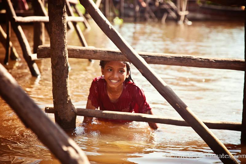 Children in Kompong Phluk, Tonle Sap, Cambodia