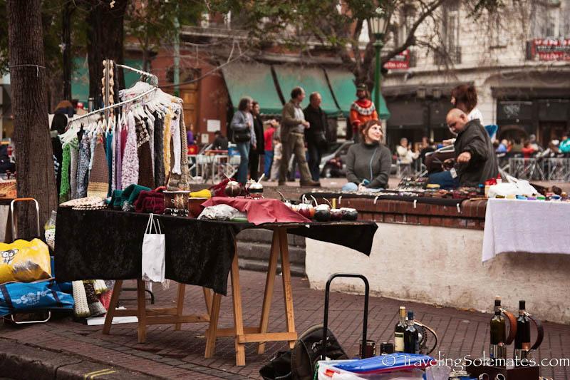 Flea Market, Plaza Dorrego, San Telmo, Buenos Aires, Argentina