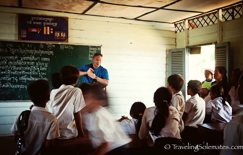 Classsroom in Kompong Phluk, Tonle Sap.  Cambodia