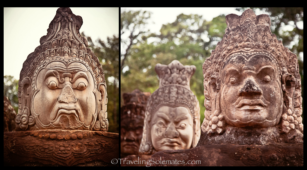 Faces of Angkor Thom South Gate, Cambodia