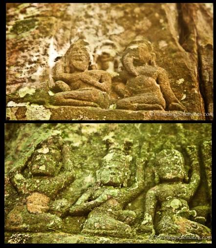 Carvings in Kbal Spean, Cambodia