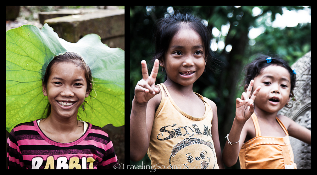 Children in Beng Mealea, Cambodia