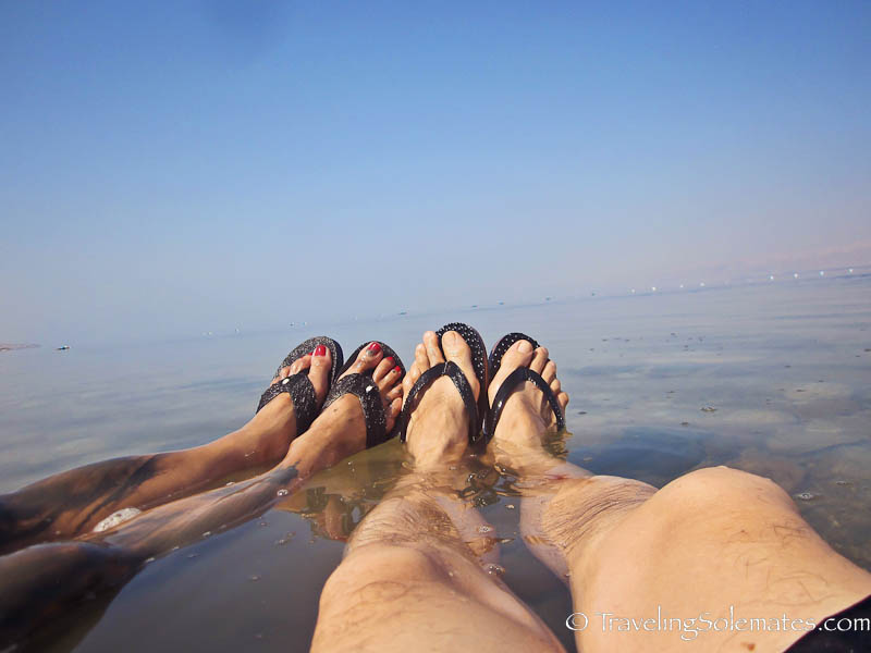 Floating on the Dead Sea, Jordan