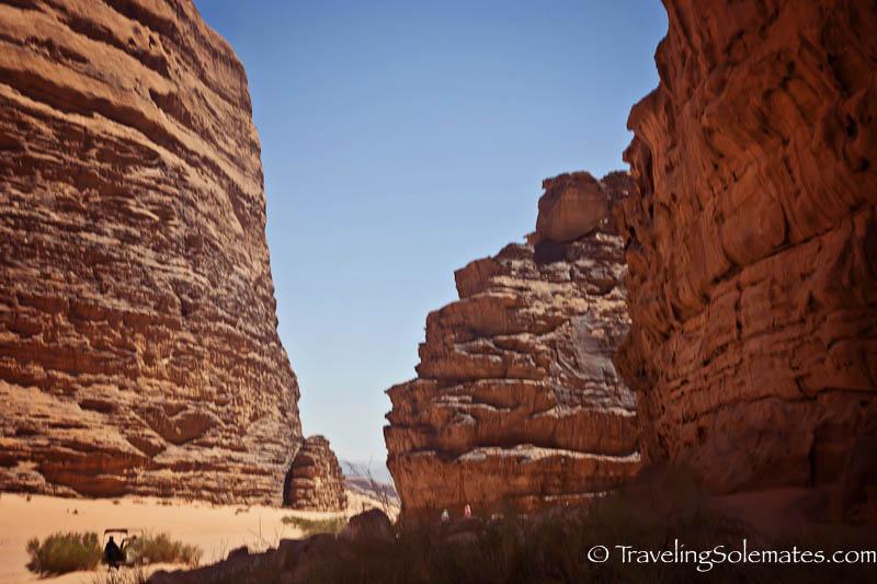 Desert and Rock Formations in Wadi Rum, Jordan