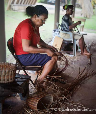 Basket Weavers, Kalinago Barana Autê, Kalinago Territory, Dominica