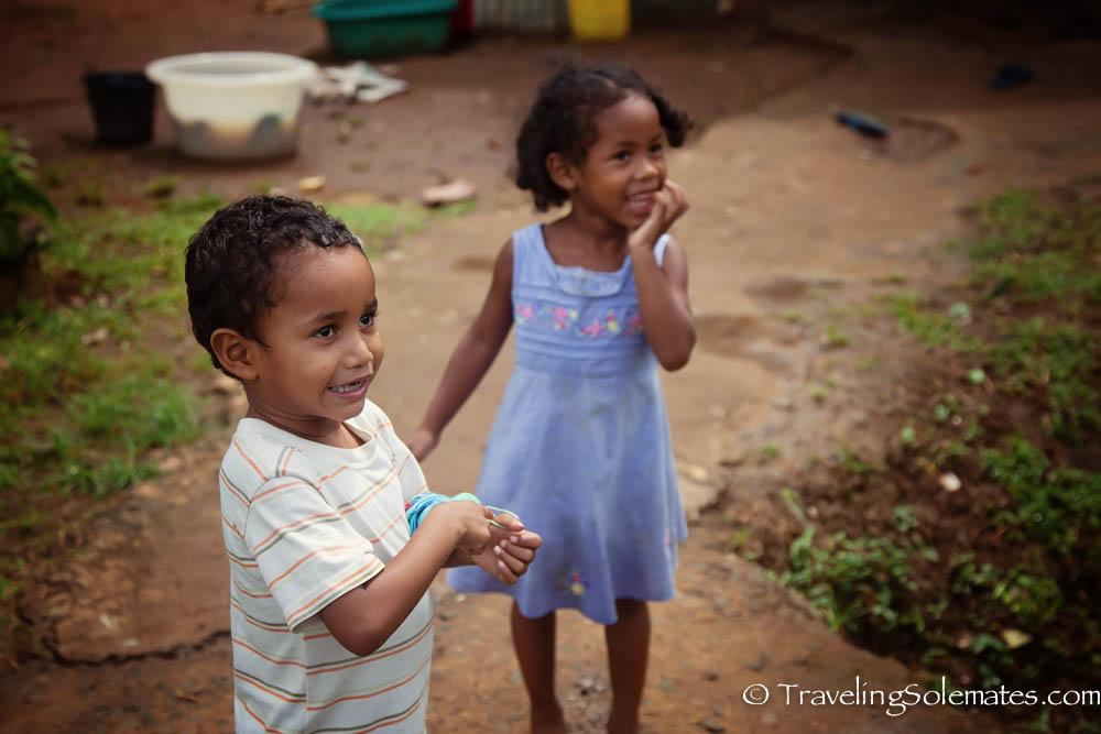 Children in Kalinago Territory, Dominica