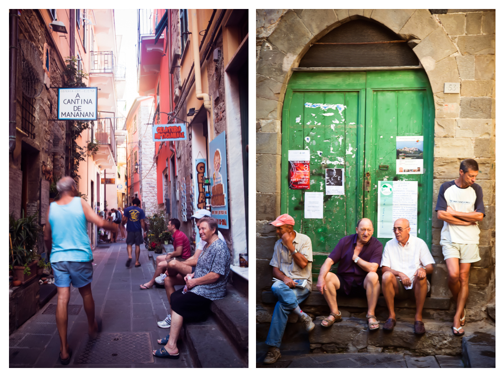 Streets and Locals of Corniglia, Cinque Terre, Italy