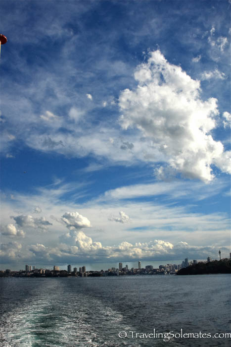 Sydney view from Manly Ferry, Sydney, Australia.